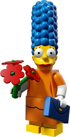 Marge Simpson (Sunday Best) figure by Matt Groening, produced by Lego. Front view.