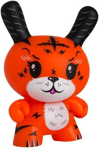 Ken the Mysterious Tigrrr figure by Squink!, produced by Kidrobot. Front view.