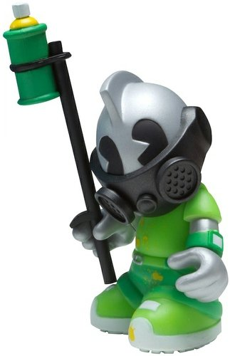 KidBomber figure, produced by Kidrobot. Front view.