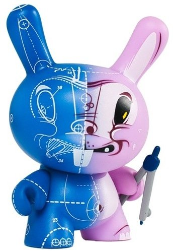 Blueprint Project: Dunny  figure by Sergio Mancini, produced by Kidrobot. Front view.