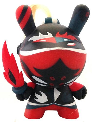 (Untitled) figure by Patricio Oliver (Po!), produced by Kidrobot. Front view.